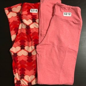 LuLaRoe TWEEN 2 Pack Buttery Soft Leggings